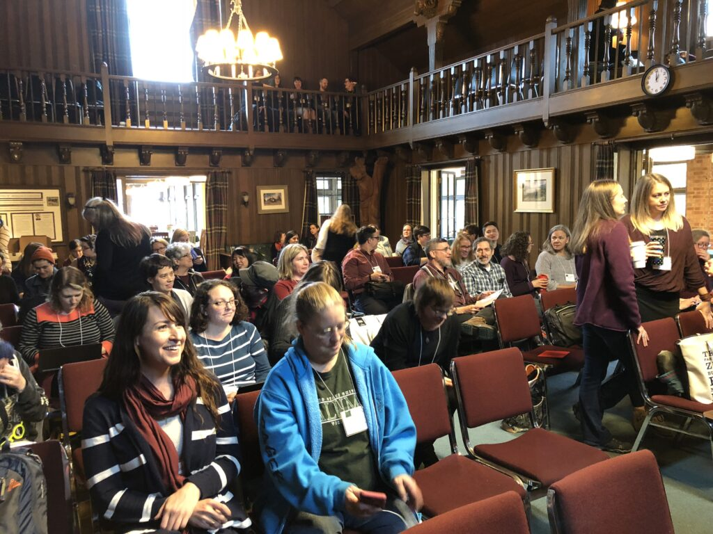 Crowd at ACRL-OR/ACRL-WA Joint Conference, Menucha 2018